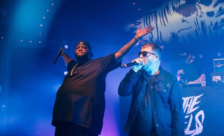 Killer Mike and El-P at the Crystal Ballroom. Image: Henry Cromett.